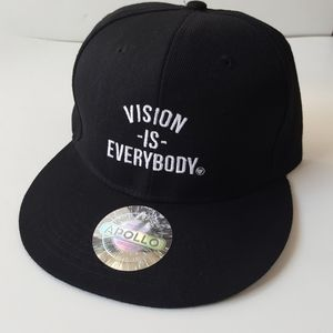 NWT Apollo Vision is Everybody black snapback hat